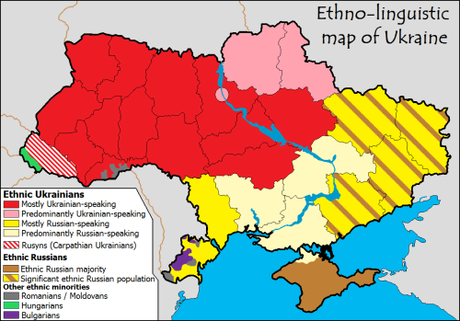 Language and ethnic map of the Ukraine