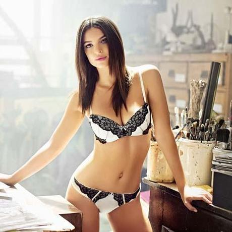 emily ratajkowski is a lingerie stunner for yamamay