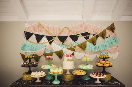 Glitter Dessert Table