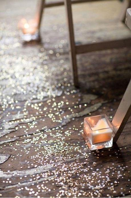 Glitter down the aisle instead of rose petals
