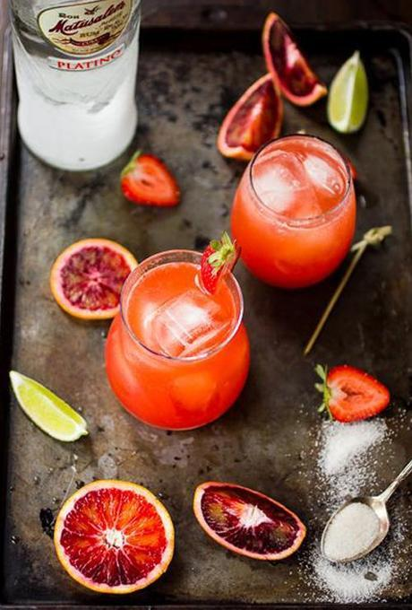 strawberry-blood-orange-rum-punch