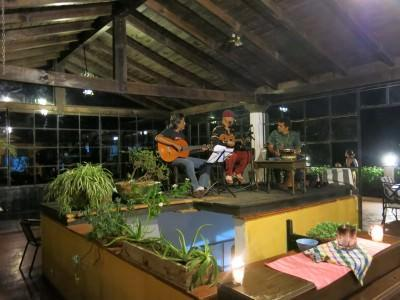 Live music in the bar upstairs at Hotel Mikaso.
