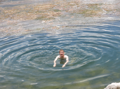 Swimming in Lago Atitlan by Hotel Mikaso