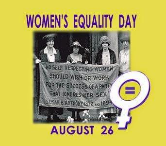 It's Women's Equality Day !