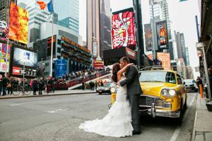 H&M Central Park wedding street taxi