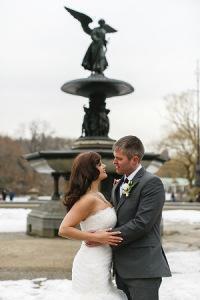 H&M Central Park wedding fountain