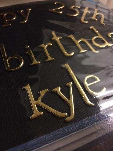 kyle 25th birthday scrapbook