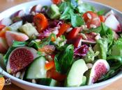 Holiday Inspired Salad with Peaches Avocado