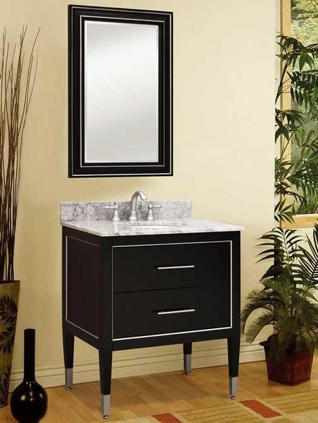 Richview Black and Silver Petite Vanity