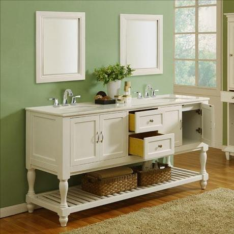 White Transitional Vanity with Dovetail Joinery