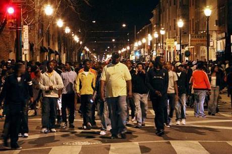 black flash mob