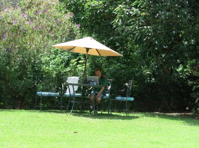 Working online at Hotel San Buenaventura Panajachel