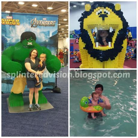 Summer Vacation: Lego Fest and Swimming