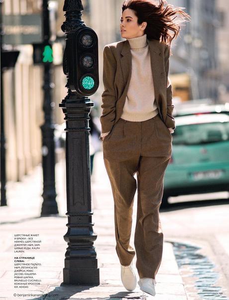 Hanaa Ben Abdesslem wearing Hermès, H&M and Ralph Lauren © Benjamin Kanarek