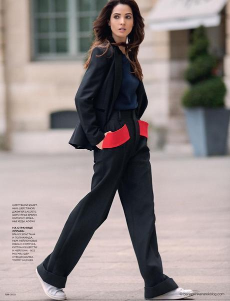 Hanaa Ben Abdesslem wearing H&M, Lacoste, Givenchy and Adidas © Benjamin Kanarek