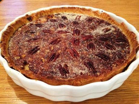 salted caramel pecan pie easy homemade recipe gbbo