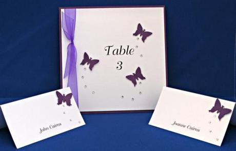 butterfly table card