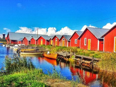 The harbour in Björköby  is a great way to access the Finnish archipelago.